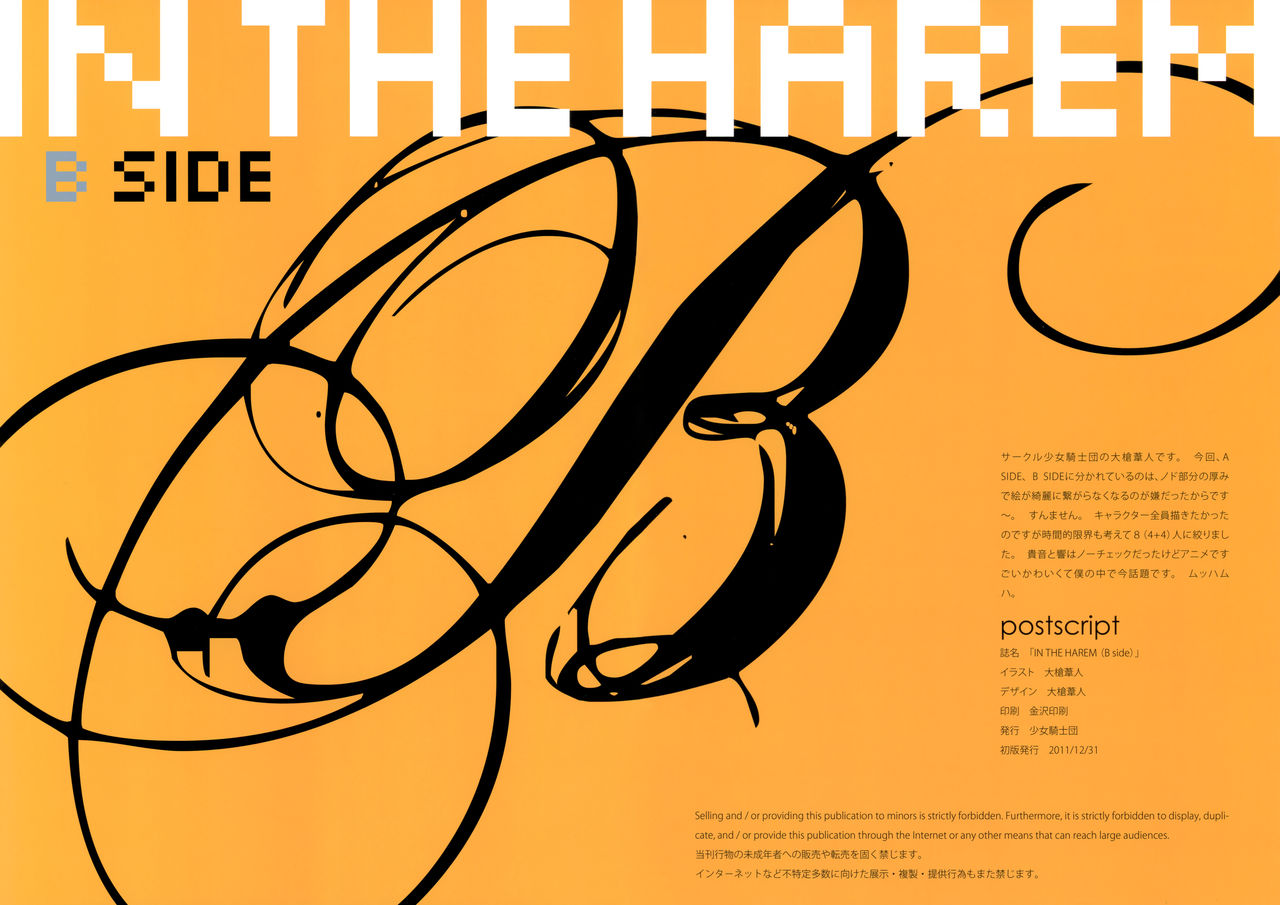 【同人】IN THE HAREM B SIDE☆【アイドルマスター】